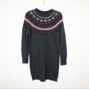 J. Crew Fair Isle Wool Alpaca Jewel Sweater Dress
